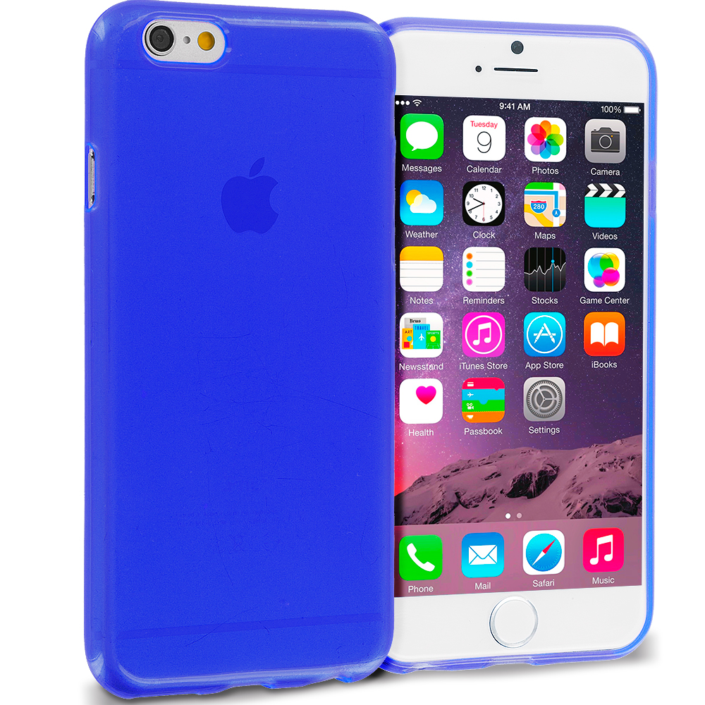 Apple iPhone 6 6S (4.7) Blue (Transparent) TPU Rubber Skin Case Cover