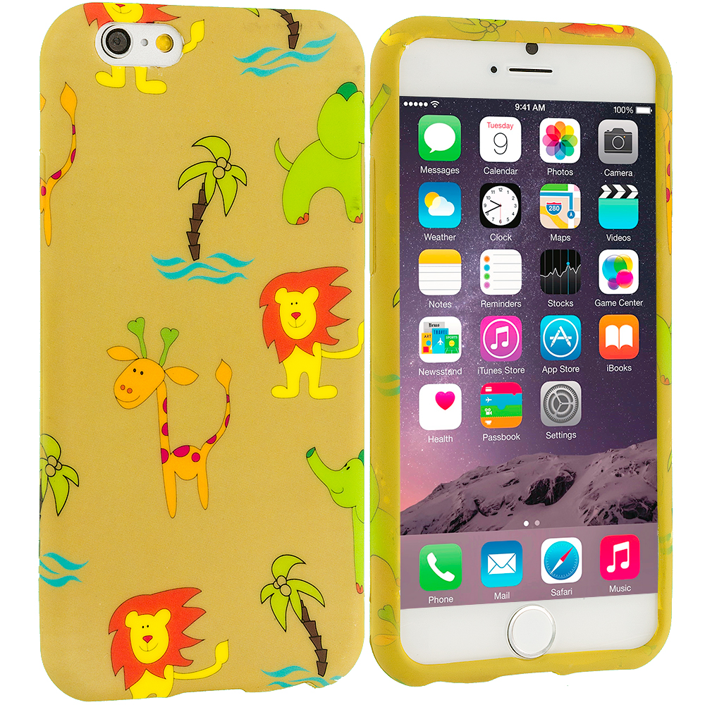 Apple iPhone 6 Plus 6S Plus (5.5) Zoo TPU Design Soft Rubber Case Cover