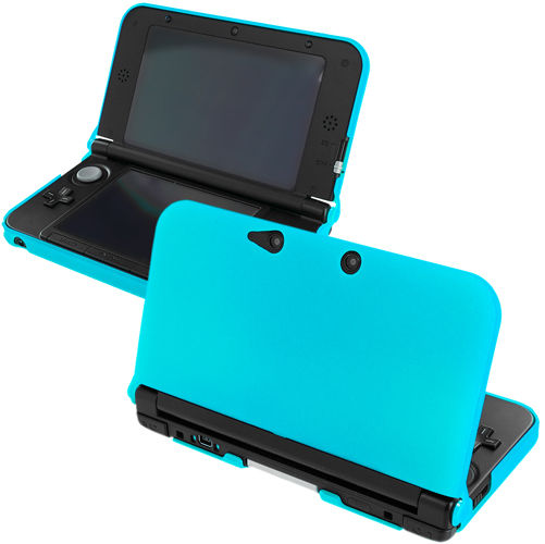 New 2015 Nintendo 3DS XL Baby Blue Hard Rubberized Case Cover