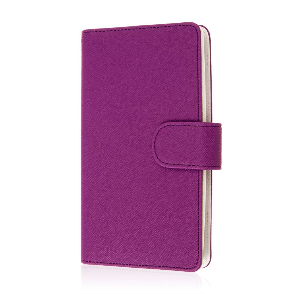 LG G Flex 2 - Purple MPERO FLEX FLIP Wallet Case Cover