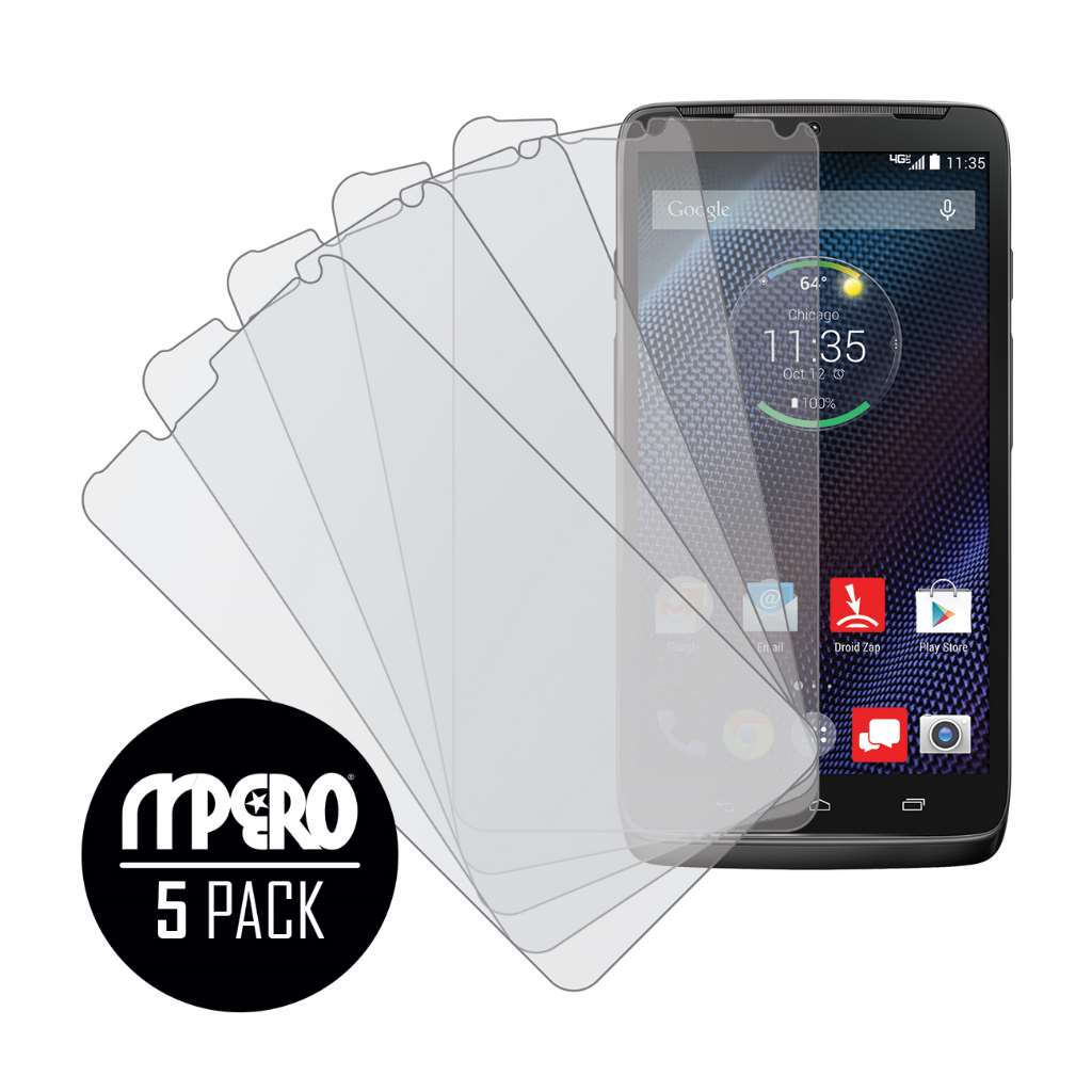 Motorola DROID TURBO MPERO 5 Pack of Matte Screen Protectors