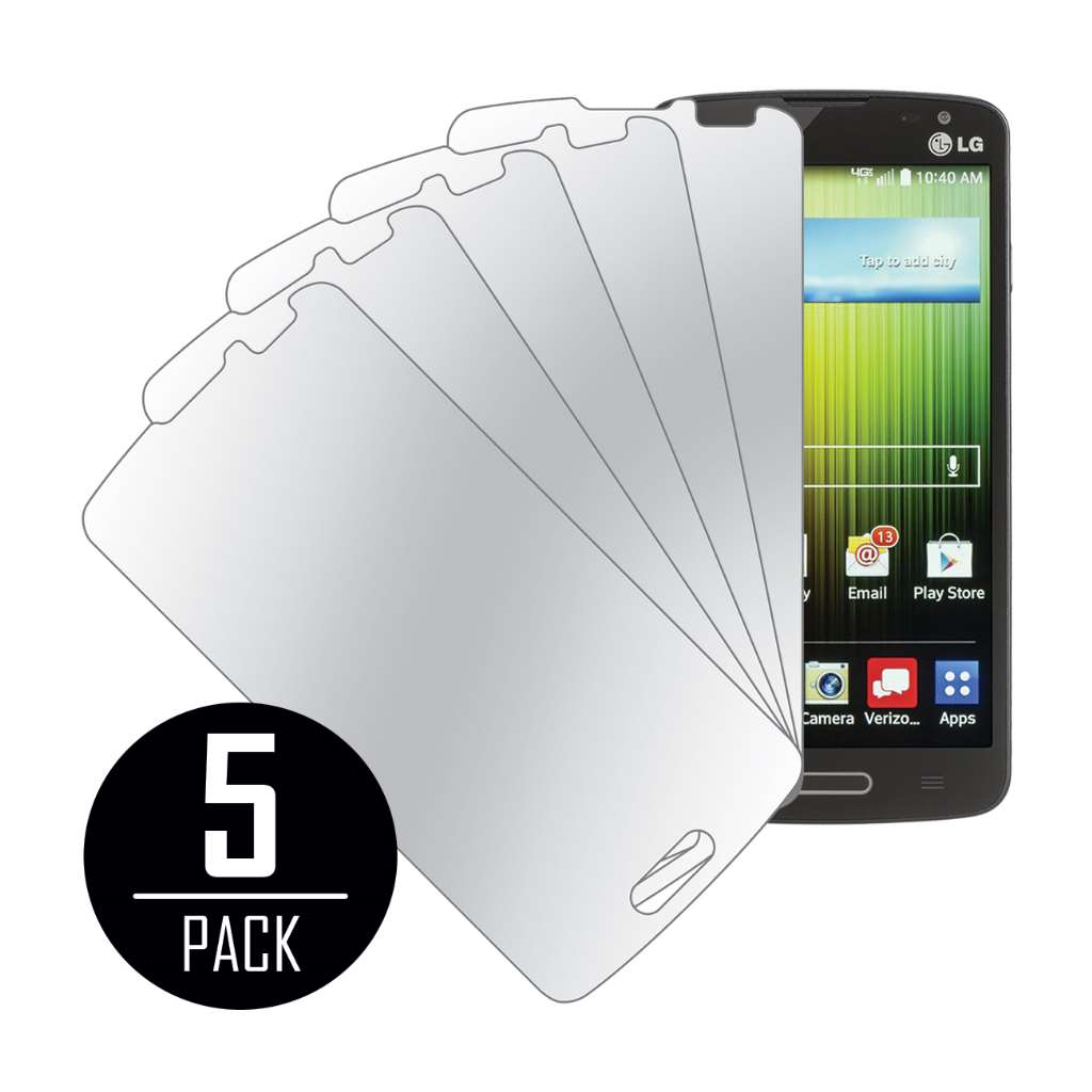 LG Lucid 3 MPERO 5 Pack of Mirror Screen Protectors