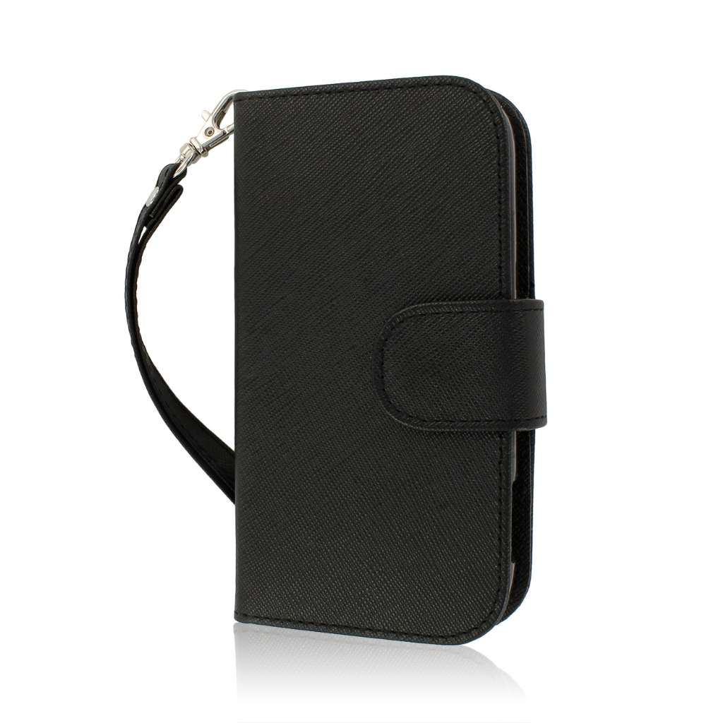 ZTE Warp Sequent N861 - Black MPERO FLEX FLIP Wallet Case Cover