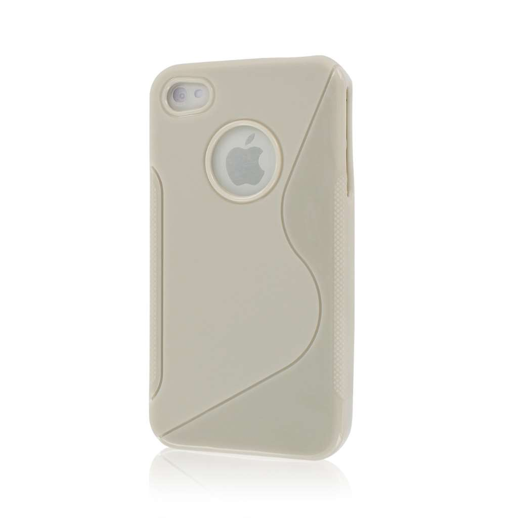 Apple iPhone 4/ 4S - LIGHT GRAY MPERO FLEX S - Protective Case Cover
