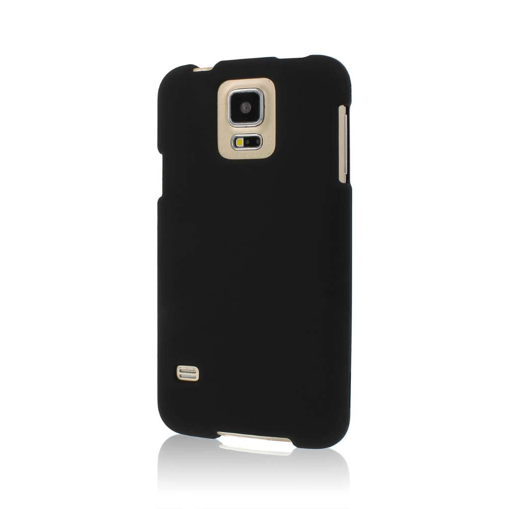 Samsung Galaxy S5 - Black MPERO SNAPZ - Rubberized Case Cover