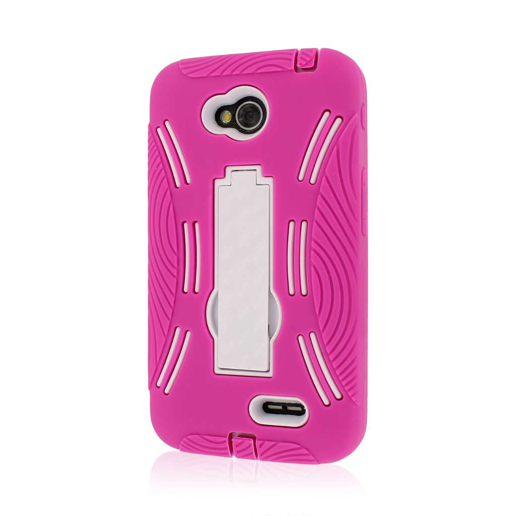 LG Optimus L70 - Hot Pink MPERO IMPACT X - Kickstand Case Cover