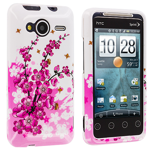 HTC EVO Shift 4G Spring Flower Design Crystal Hard Case Cover