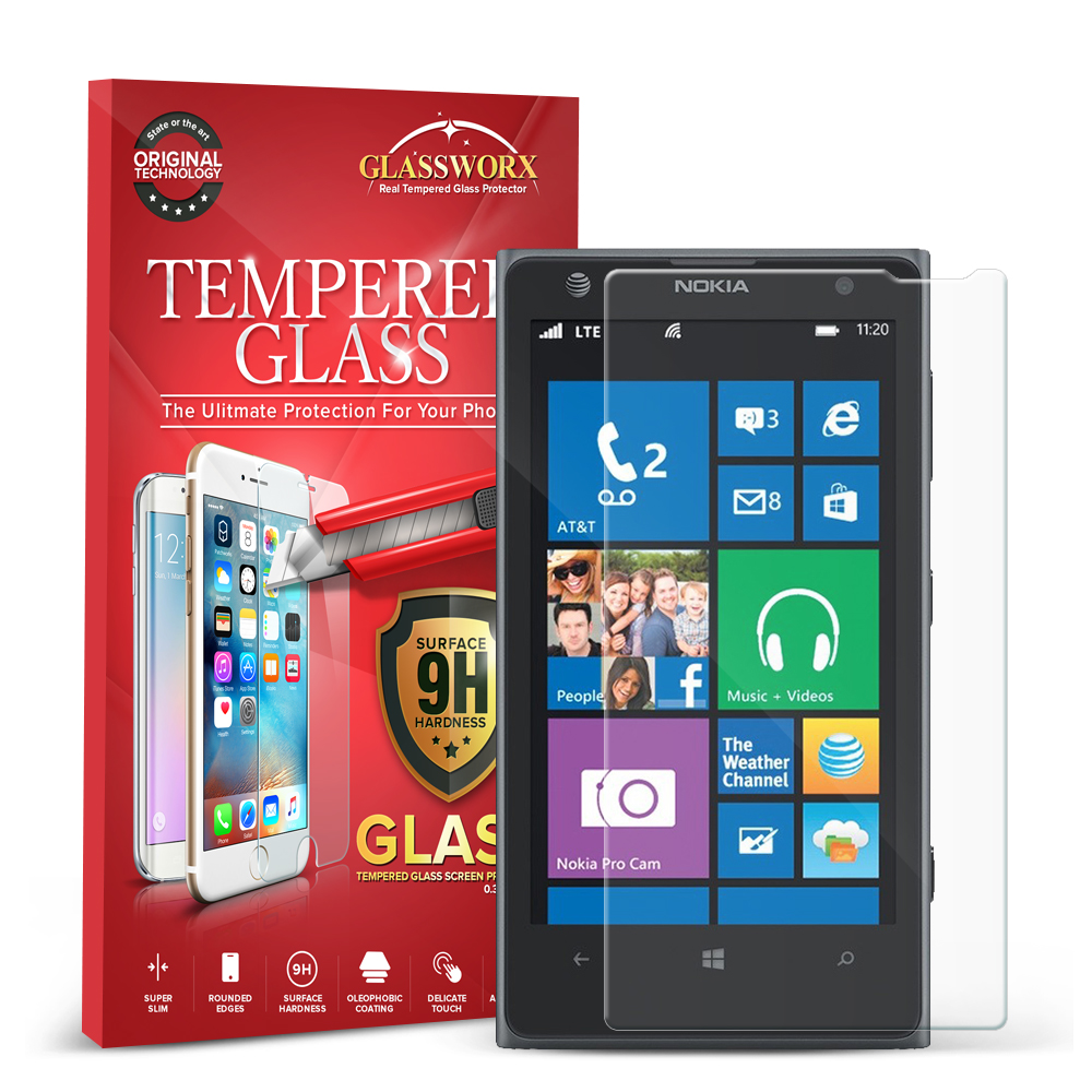 Nokia Lumia 1020 GlassWorX HD Clear Tempered Glass Screen Protector