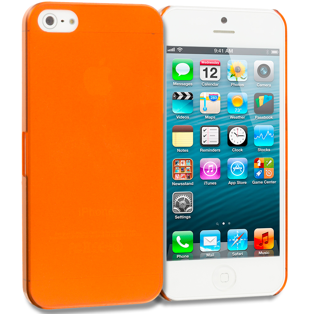 Apple iPhone 5/5S/SE Orange 0.3mm Crystal Hard Back Cover Case