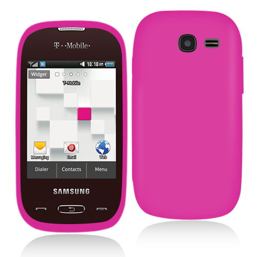 Samsung Gravity Q T289 Hot Pink Hard Rubberized Case Cover