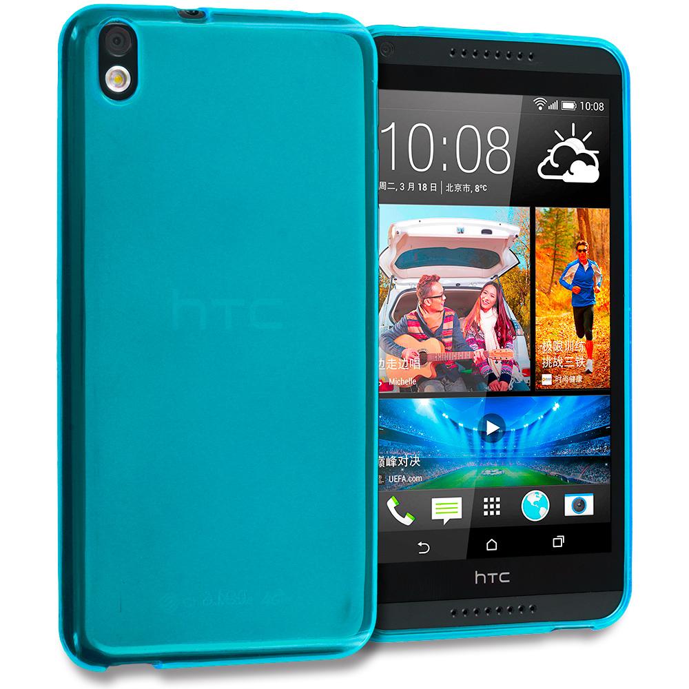 HTC Desire 816 Baby Blue TPU Rubber Skin Case Cover