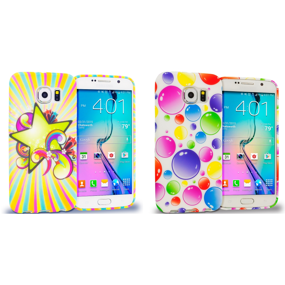 Samsung Galaxy S6 Combo Pack : SuperStar TPU Design Soft Rubber Case Cover