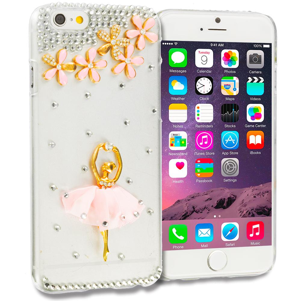 Apple iPhone 6 Plus 6S Plus (5.5) Ballerina Bling Rhinestone Case Cover