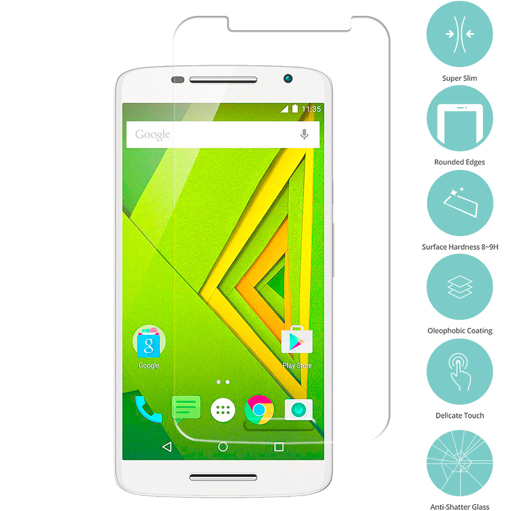 Motorola Moto X Play Clear Tempered Glass Film Screen Protector Clear