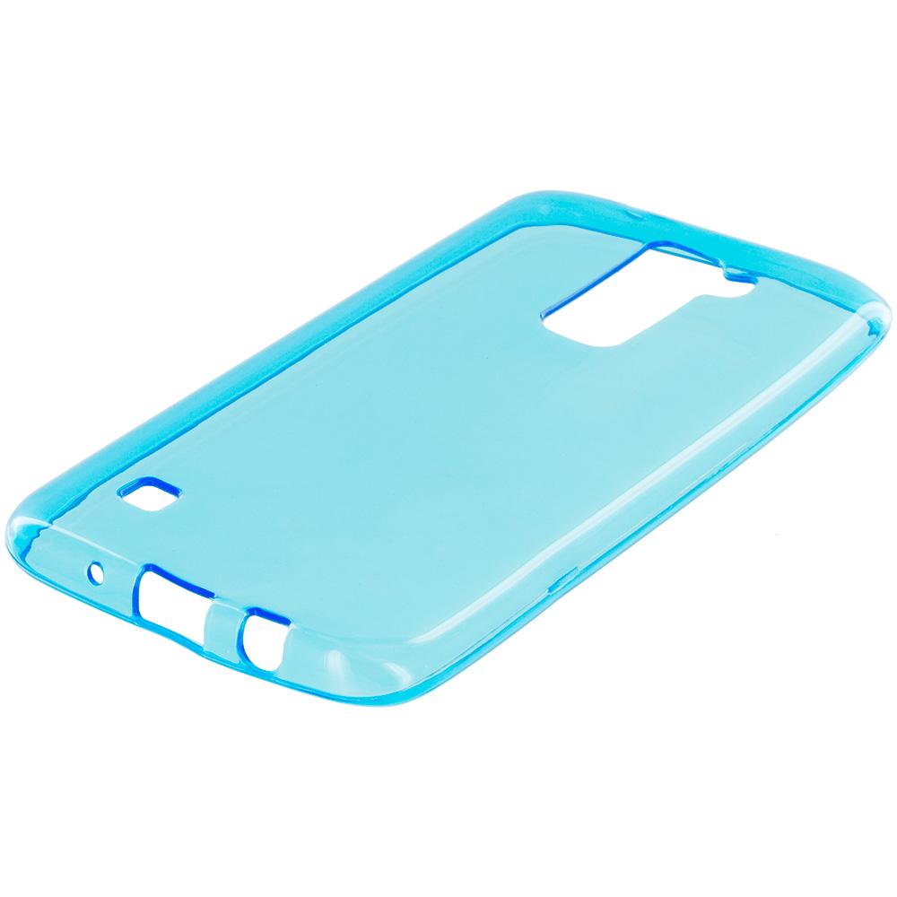 LG Tribute 5 K7 Baby Blue TPU Rubber Skin Case Cover