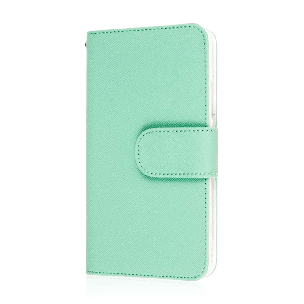 Microsoft Lumia 640 - Mint MPERO FLEX FLIP Wallet Case Cover