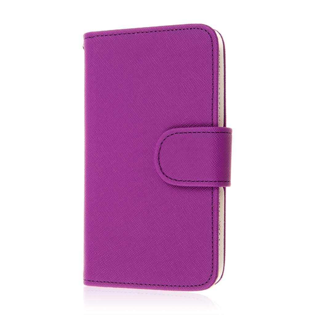 LG F60 - Purple MPERO FLEX FLIP Wallet Case Cover