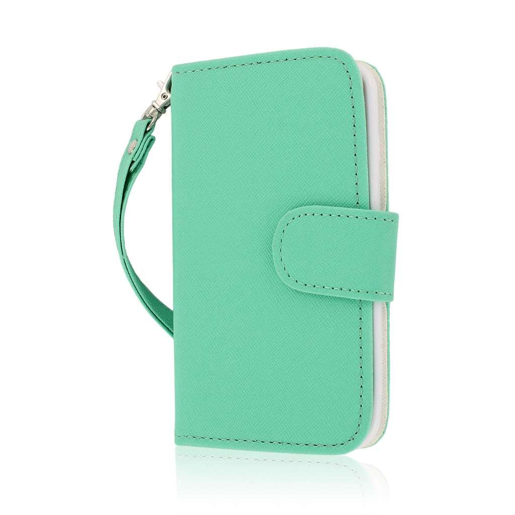 LG Optimus L90 - Mint MPERO FLEX FLIP Wallet Case Cover