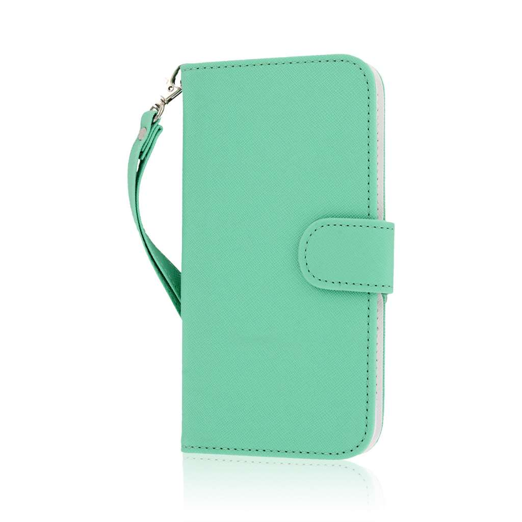 Apple iPhone 6 6S Plus - Mint MPERO FLEX FLIP Wallet Case Cover