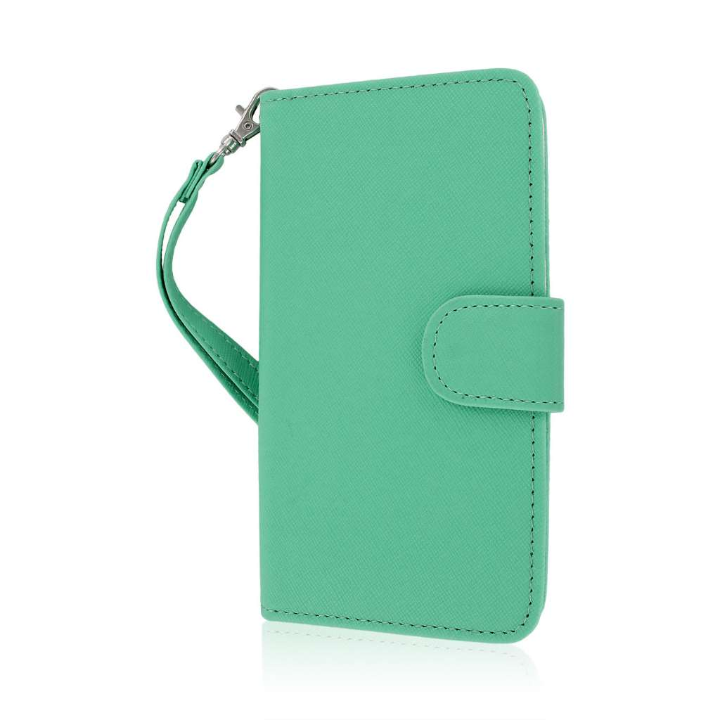 LG G3 - Mint MPERO FLEX FLIP Wallet Case Cover