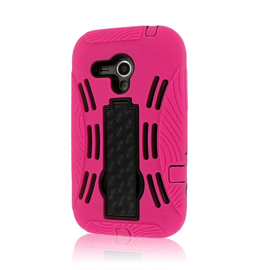 Samsung Galaxy Rush M830 - Hot Pink MPERO IMPACT XL - Kickstand Case Cover