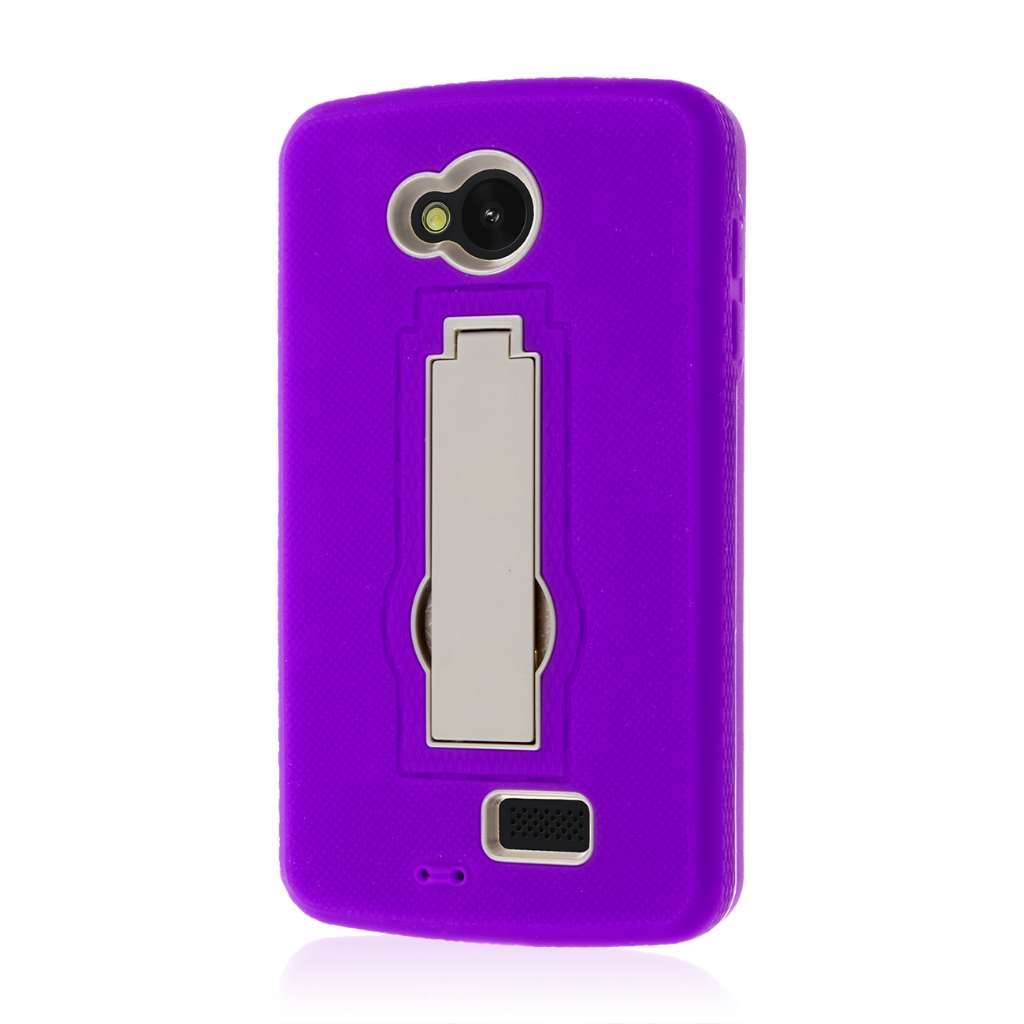 LG Transpyre / Tribute / Optimus F60 - Purple MPERO IMPACT XS - Stand Case