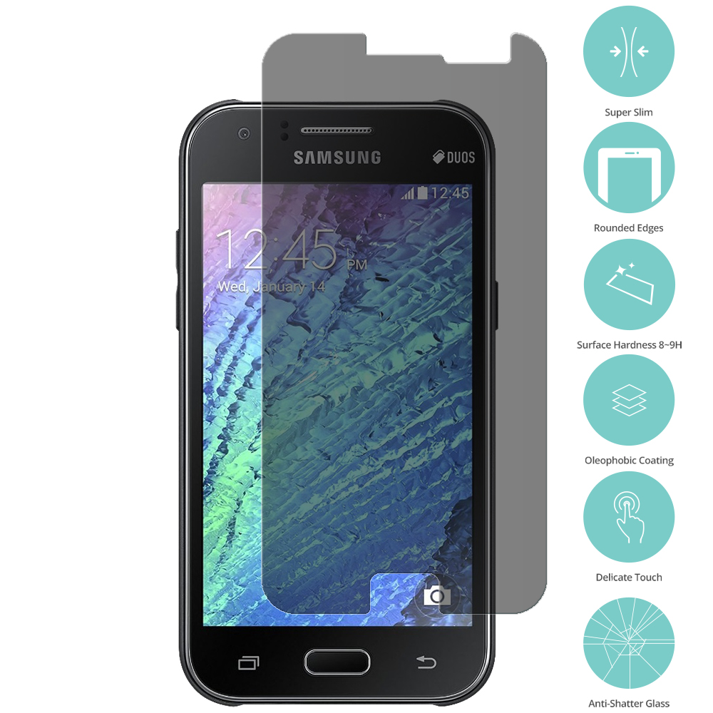 For Samsung Galaxy J1 2016 / Amp 2 / Express 3 / Luna S120 Privacy Tempered Glass Film Screen Protector