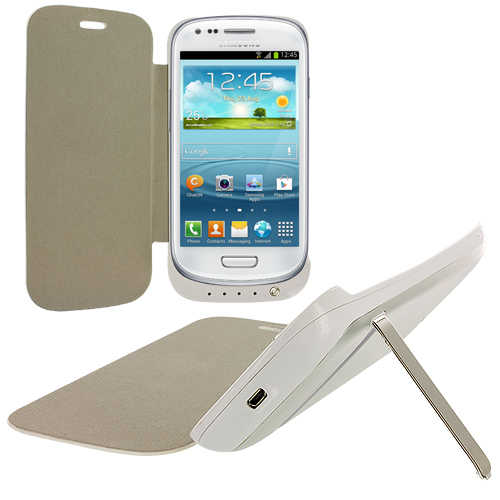 Samsung Galaxy S3 White External Backup Battery Case Cover