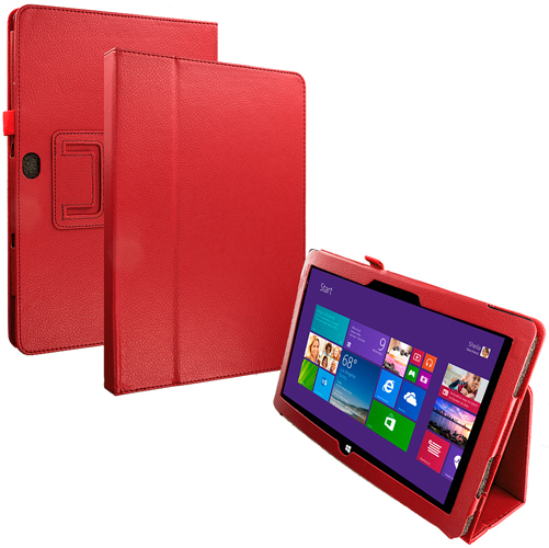 Microsoft Surface Pro 2 Red Folio Pouch Flip Case Cover Stand
