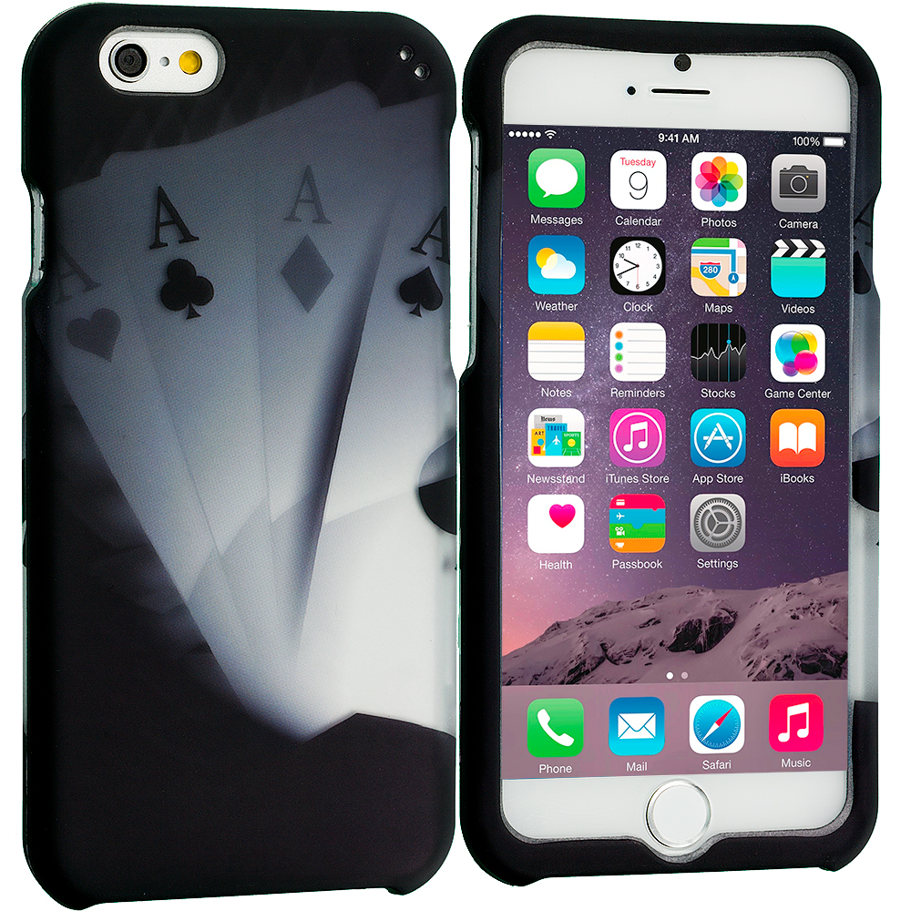 Apple iPhone 6 6S (4.7) Ace Cards 2D Hard Rubberized Design Case Cover