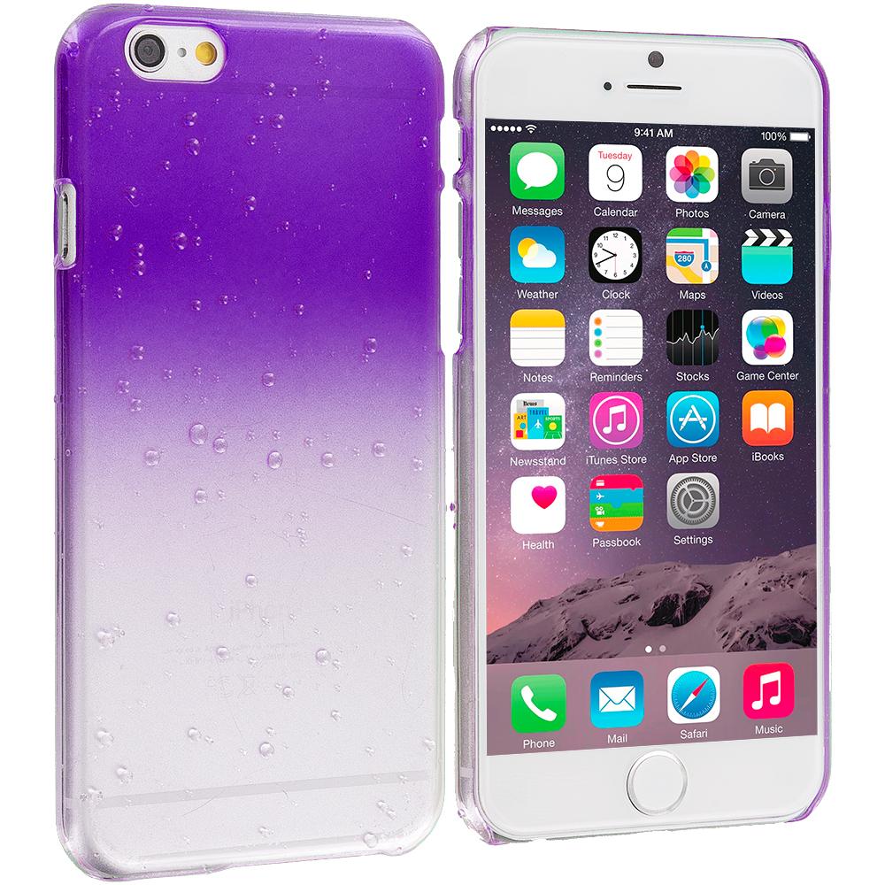 Apple iPhone 6 Plus 6S Plus (5.5) Purple Crystal Raindrop Hard Case Cover