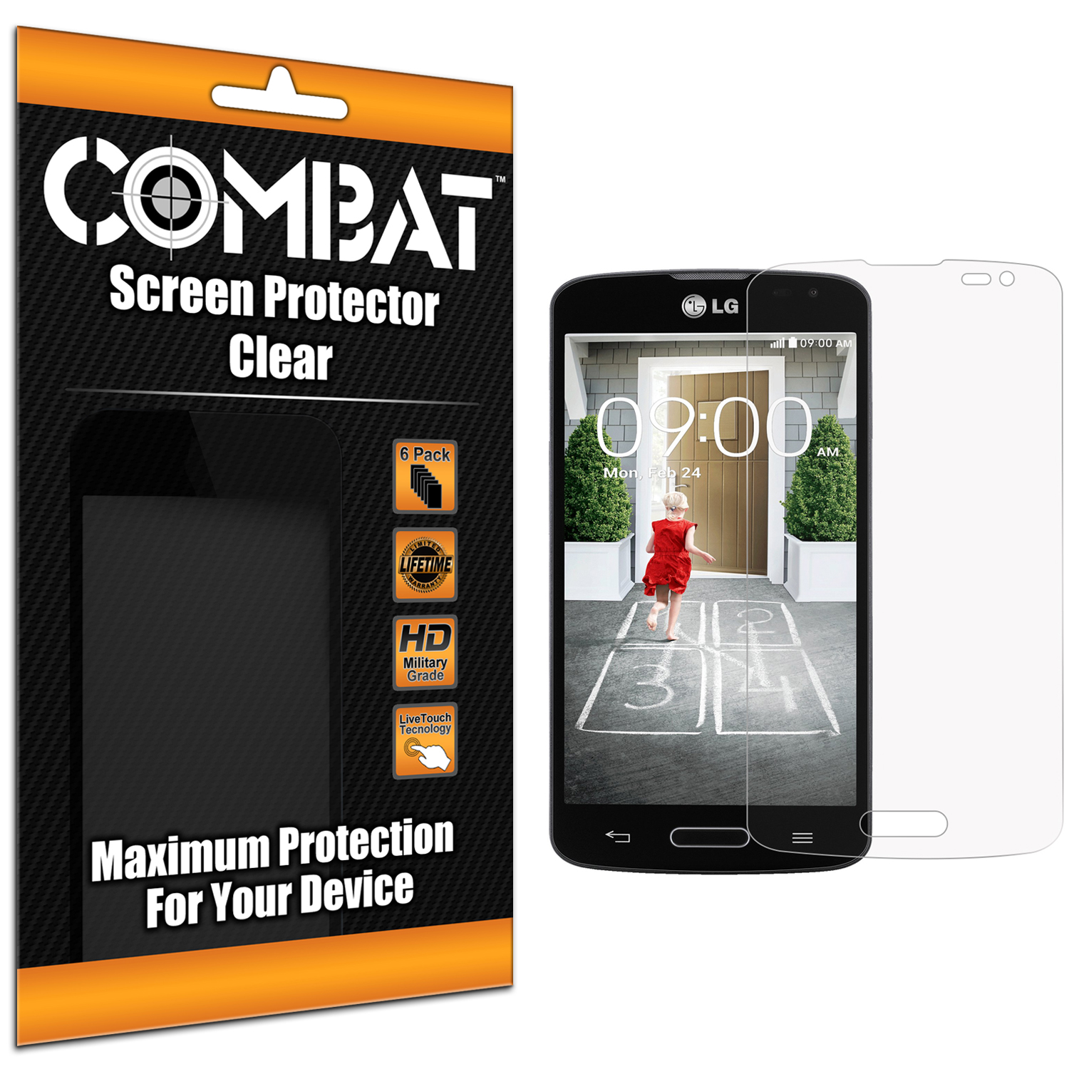 LG Optimus F70 Combat 6 Pack HD Clear Screen Protector