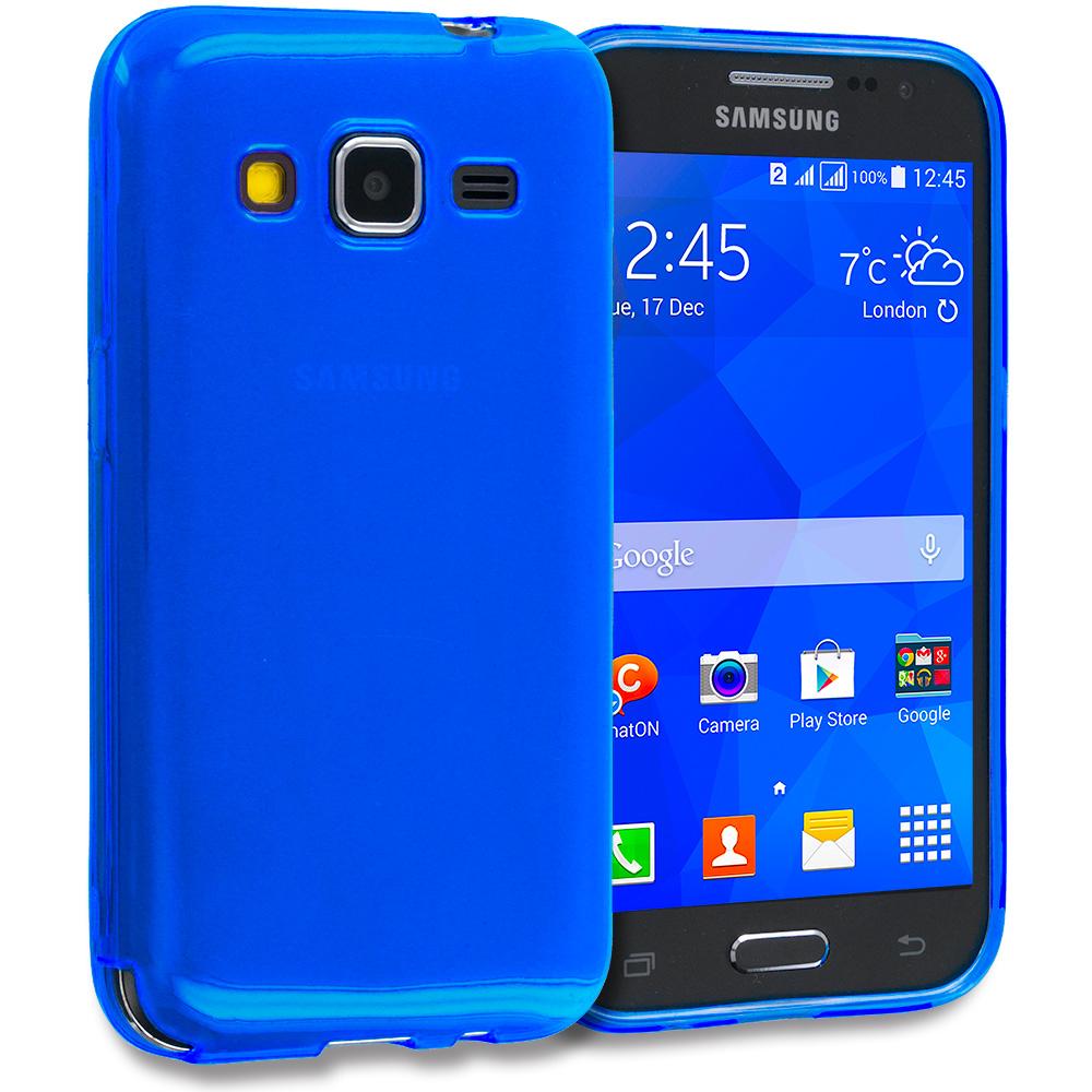 Samsung Galaxy Prevail LTE Core Prime G360P Blue TPU Rubber Skin Case Cover