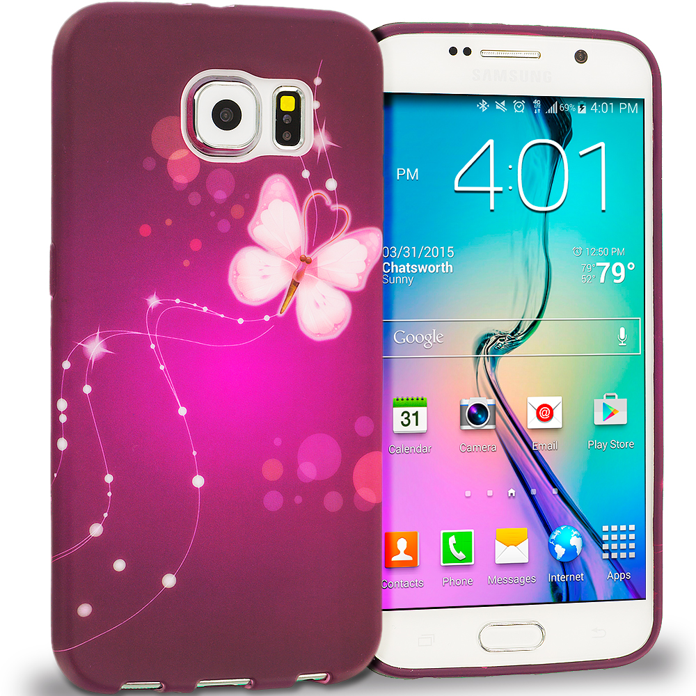 Samsung Galaxy S6 Dream Butterfly TPU Design Soft Rubber Case Cover