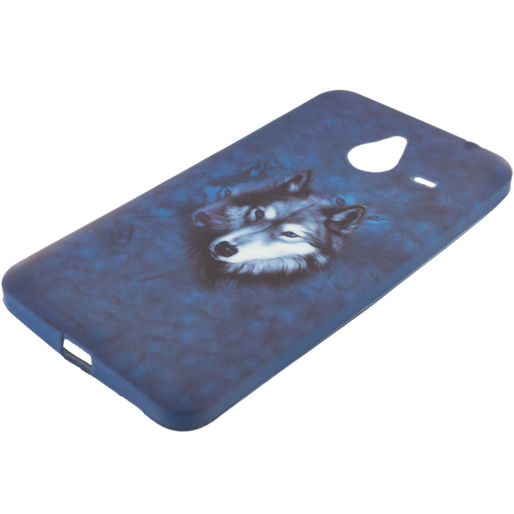 Microsoft Lumia 640 XL Wolf TPU Design Soft Rubber Case Cover