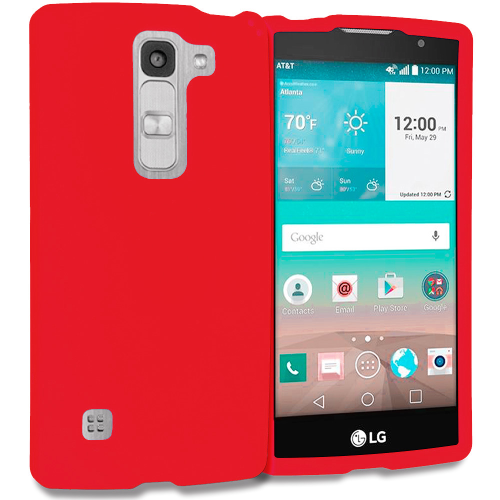 LG Escape 2 Logos Spirit LTE Red Hard Rubberized Case Cover