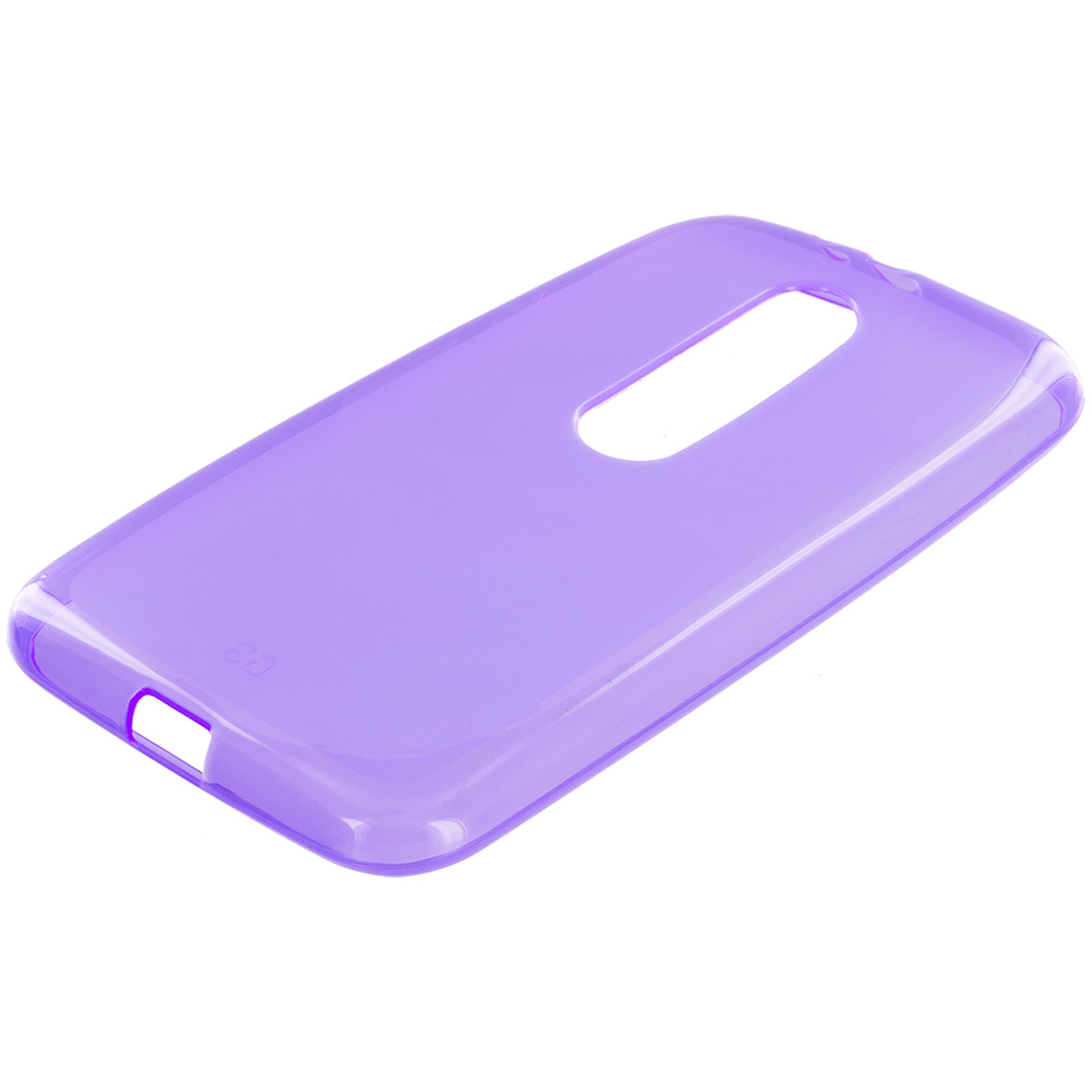 Motorola Moto G 3rd Gen 2015 Purple TPU Rubber Skin Case Cover