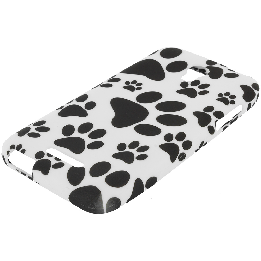 Alcatel One Touch Elevate Dog Paw TPU Design Soft Rubber Case Cover