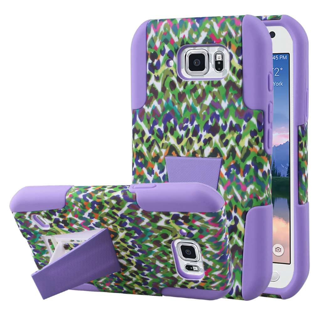 Samsung Galaxy S6 Active - Purple Leopard MPERO IMPACT X - Stand Case