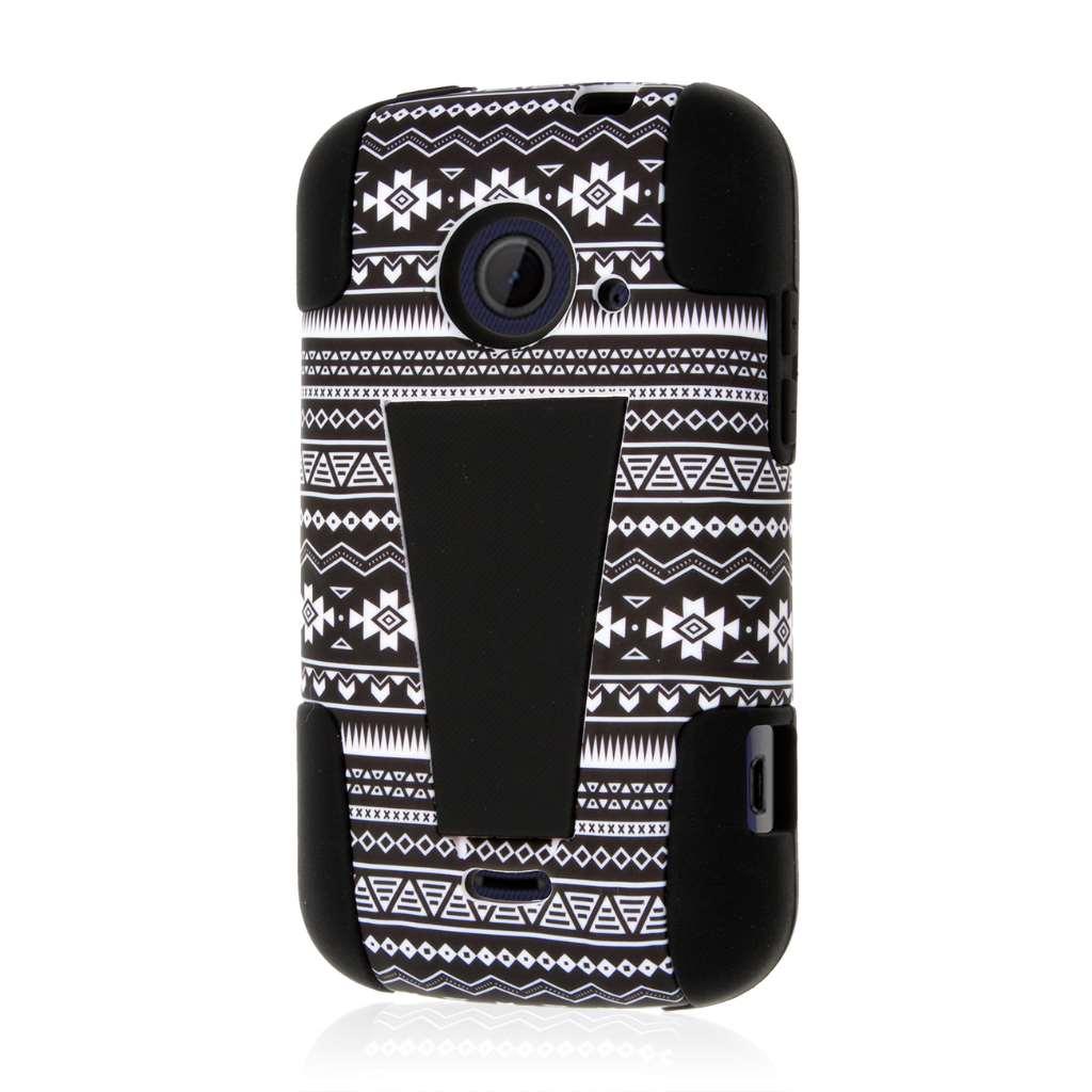 ZTE Zinger Z667 - Black Aztec MPERO IMPACT X - Kickstand Case Cover