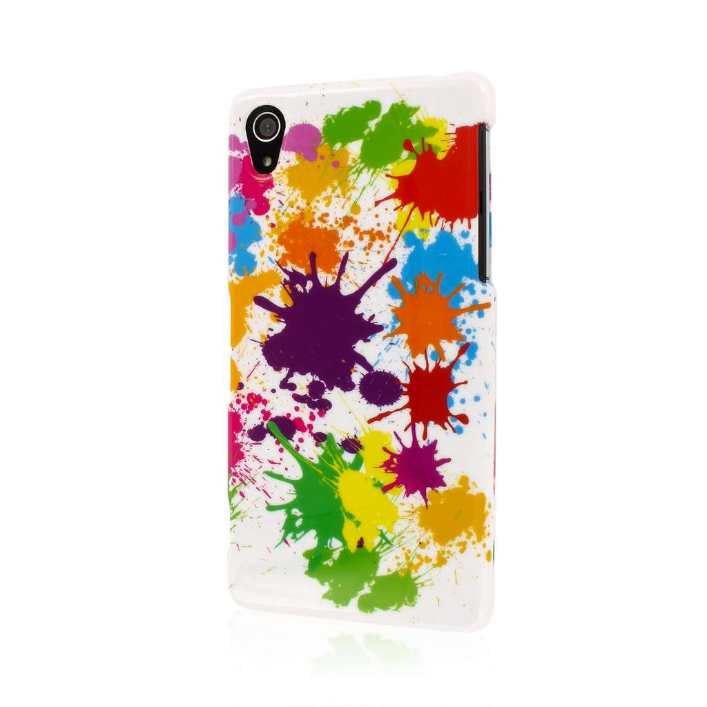 Sony Xperia Z2 - White Paint Splatter MPERO SNAPZ - Case Cover