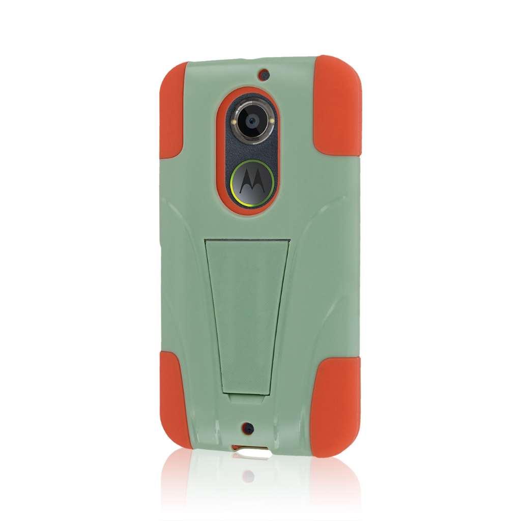 Motorola Moto X 2014 2nd Gen - Coral / Mint MPERO IMPACT X - Kickstand Case