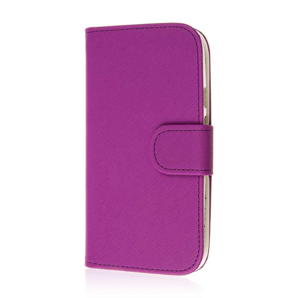 Motorola Moto G 2nd Gen 2014 - Purple MPERO FLEX FLIP Wallet Case Cover