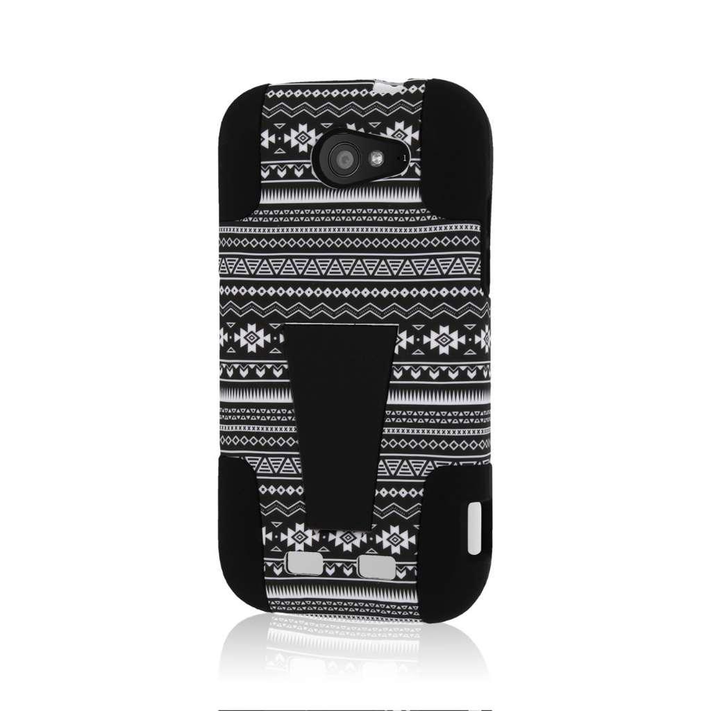 ZTE Grand S Pro - Black Aztec MPERO IMPACT X - Kickstand Case Cover