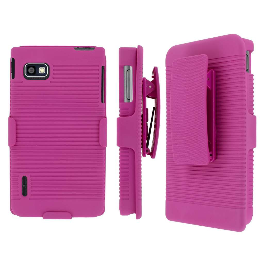 T-Mobile LG Optimus F3 MPERO 3 in 1 Tough Kickstand Case Cover