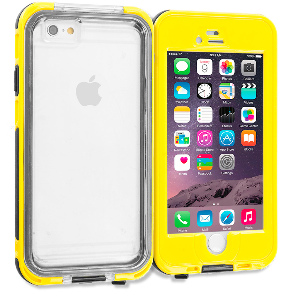 Apple iPhone 6 Plus Yellow Waterproof Shockproof Dirtproof Hard Full Protection Case Cover