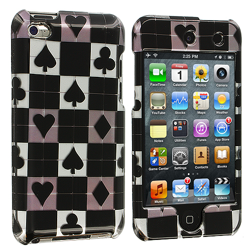 Apple iPod Touch 4th Generation Poker Design Crystal Hard Case Cover