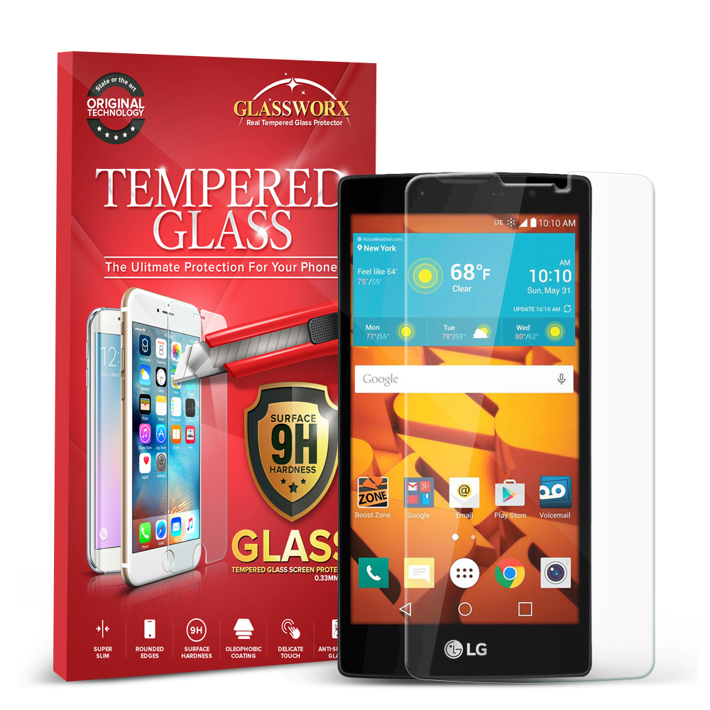 LG Volt 2 LS751 GlassWorX HD Clear Tempered Glass Screen Protector