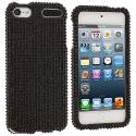 Apple iPod Touch 5th 6th Generation Black Bling Rhinestone Case Cover Angle 1