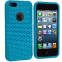 Apple iPhone 5/5S/SE Baby Blue / Baby Blue Hybrid Mesh Hard/Soft Case Cover Angle 2